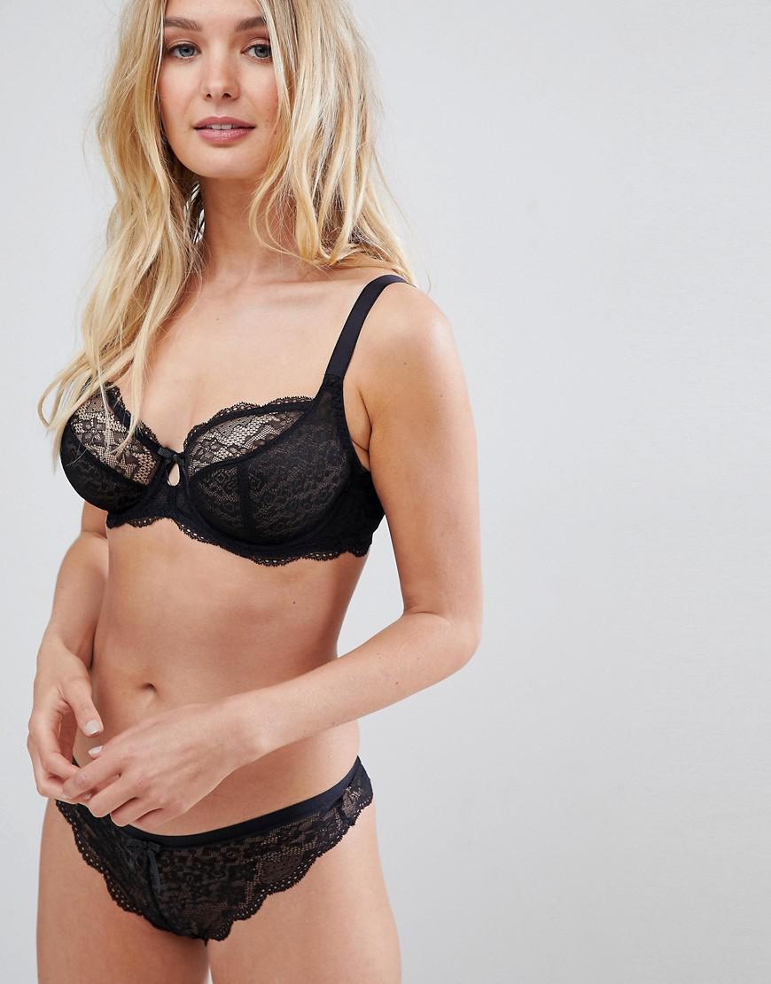 ffb90b312d Lyst - Freya Fancies Plunge Lace Fuller Bust Bra in Black