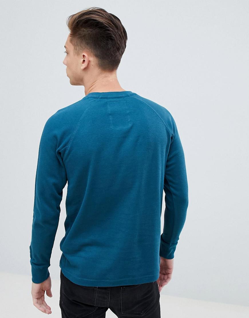 Tokyo Laundry Katoen Lichtgewicht Sweater Met Ronde Hals in het Blauw voor heren