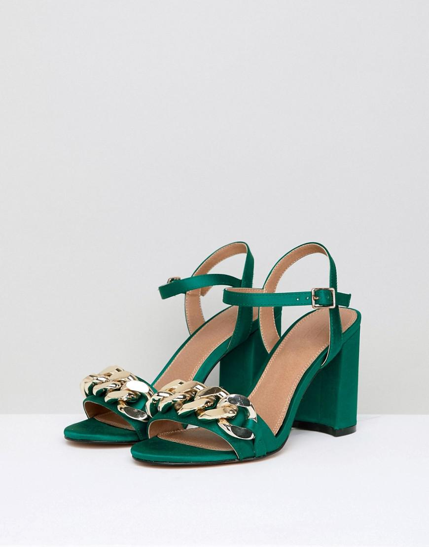 ASOS DESIGN Hawk Chain Block Heeled Sandals Fksw5vYcL