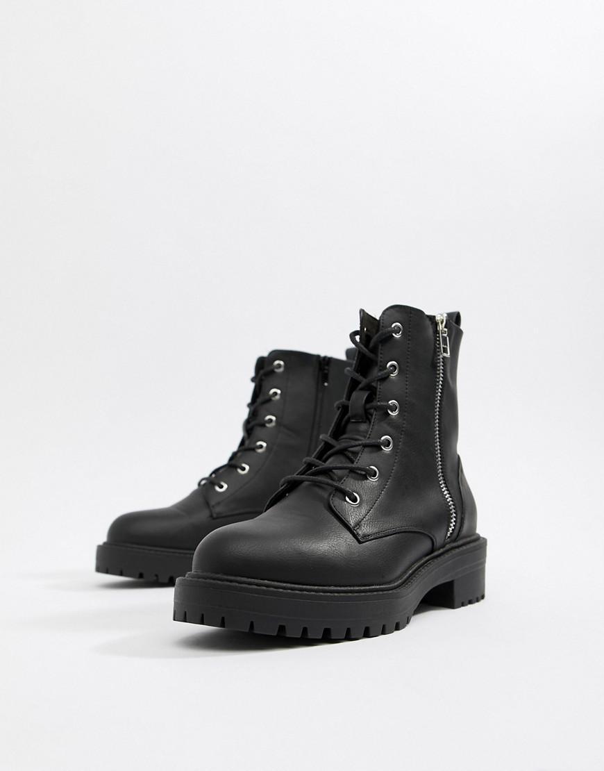91b969267e6 Women's Black Abra Chunky Lace Up Boots