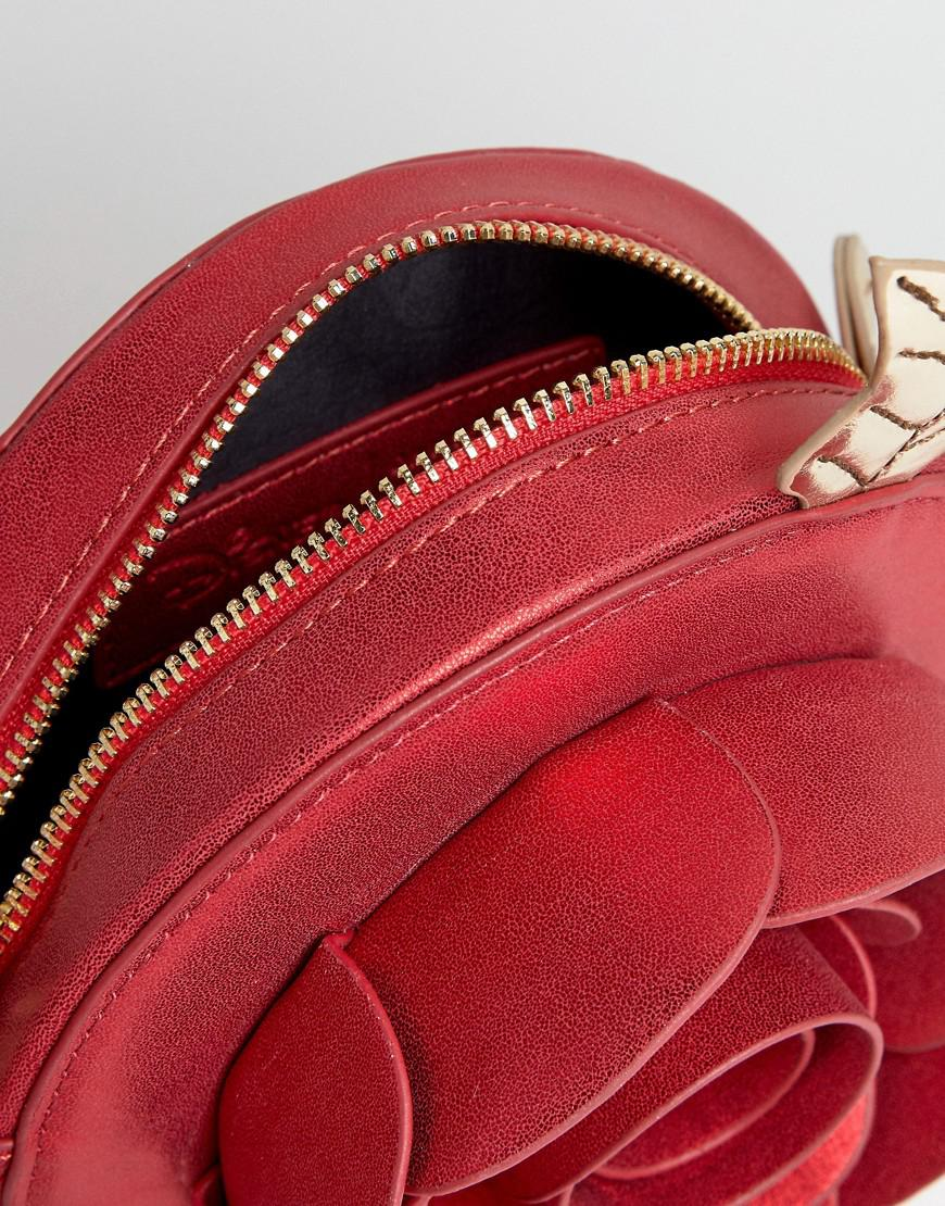 Danielle Nicole Disney X Beauty And The Beast Rose Cross-body Bag in Red