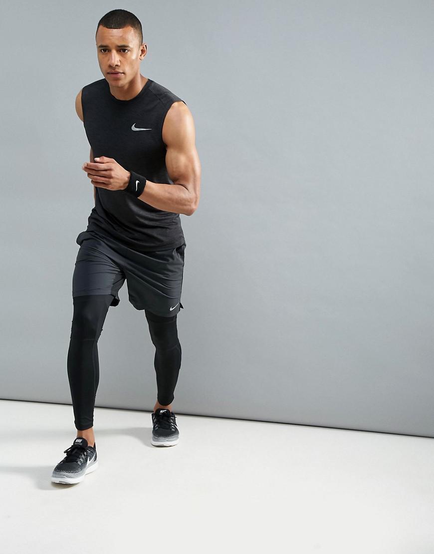 Nike Synthetic Breathe Miler Vest In Black 904314-014 for Men