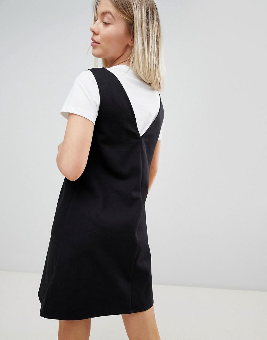 DESIGN Casual Mini Shift Dress - Black Asos zvqRvGmhM