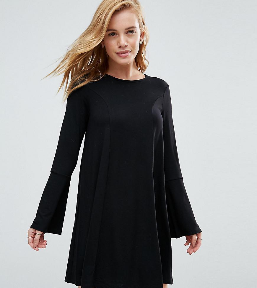 2fb2942b6ccad Asos Tall Pleated Dobby And Lace Top Long Sleeve Maxi Dress | Saddha