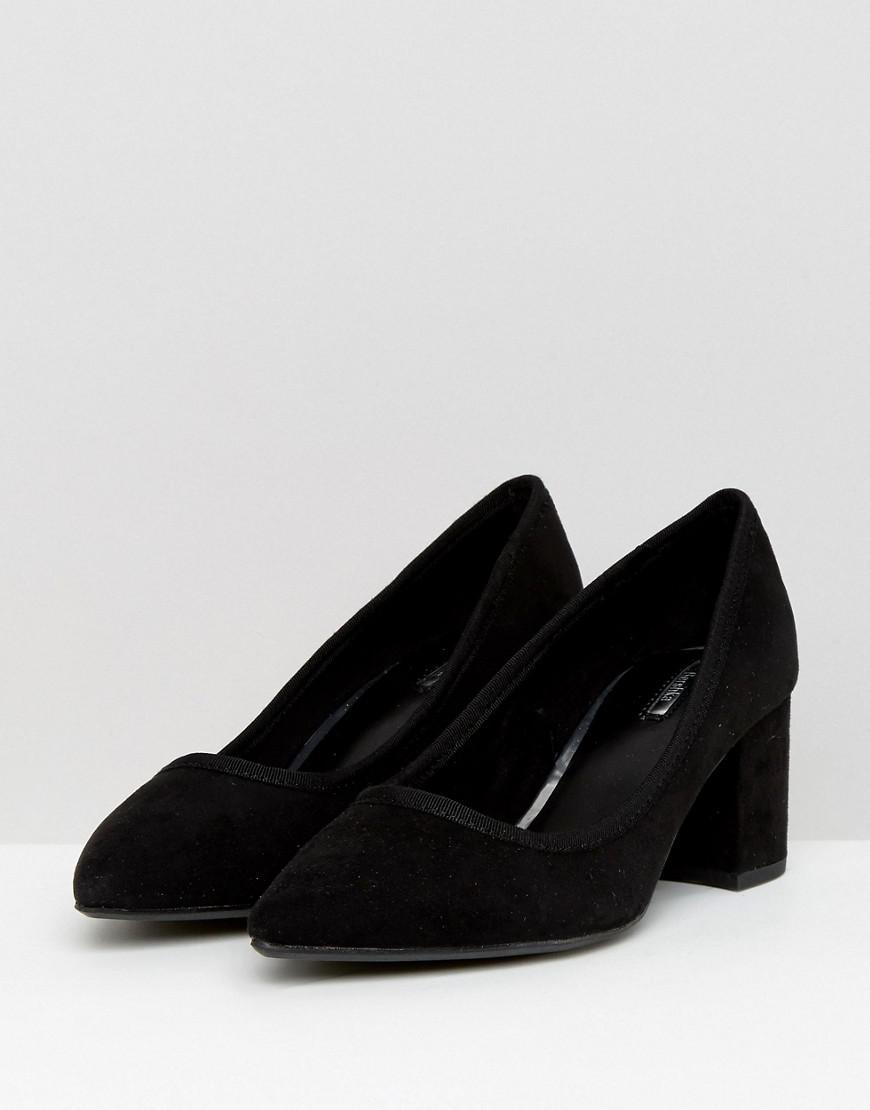 Sergio Rossi Black Court Shoe Block Heels