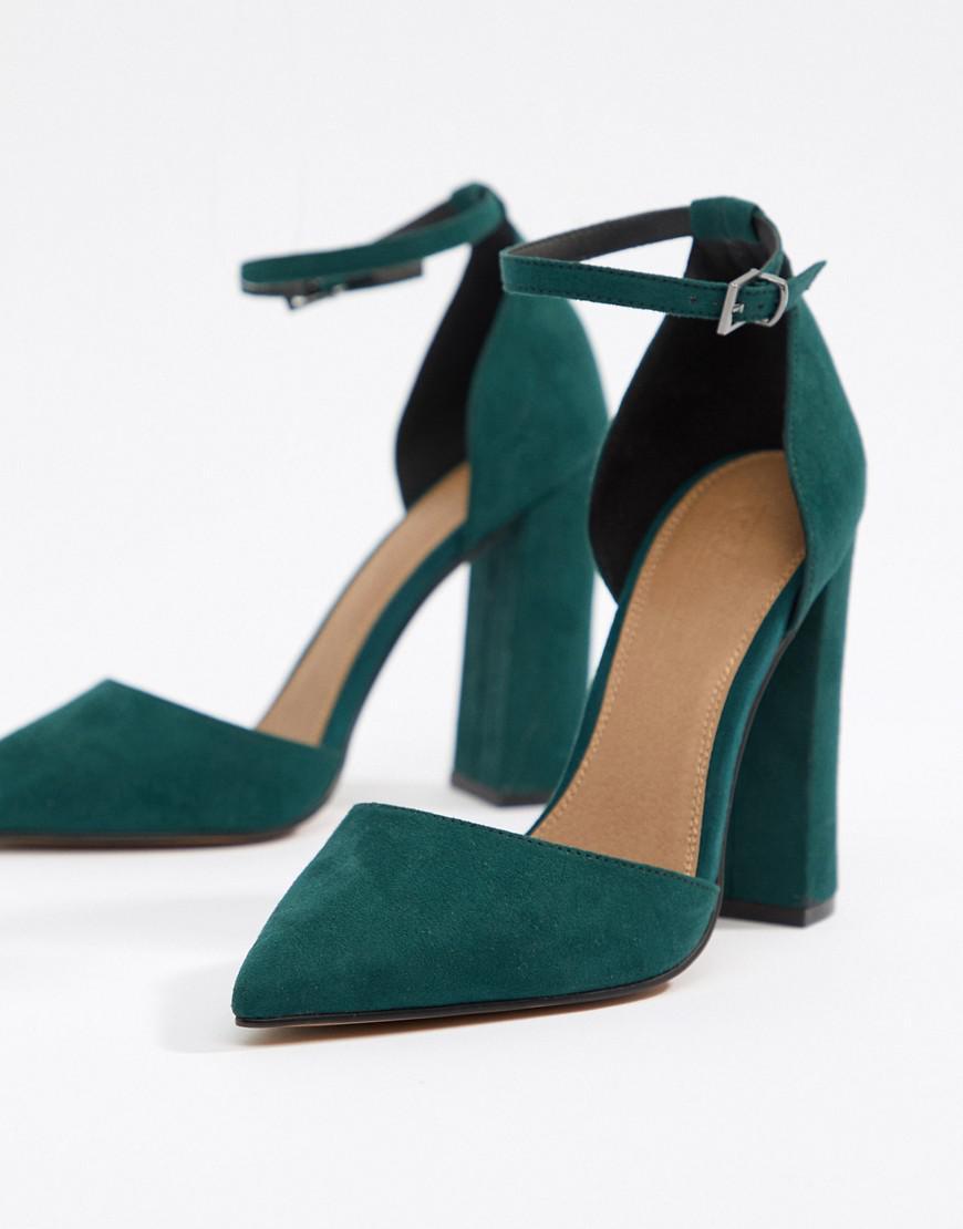 4d25e2d339d Women's Green Pebble Pointed High Heels
