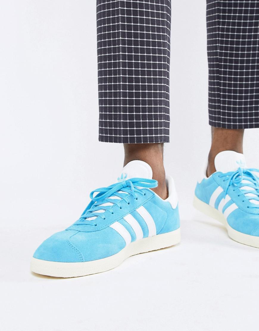 afe5cf7b8c7c Lyst - adidas Originals Gazelle Suede Sneakers In Blue B37945 in ...