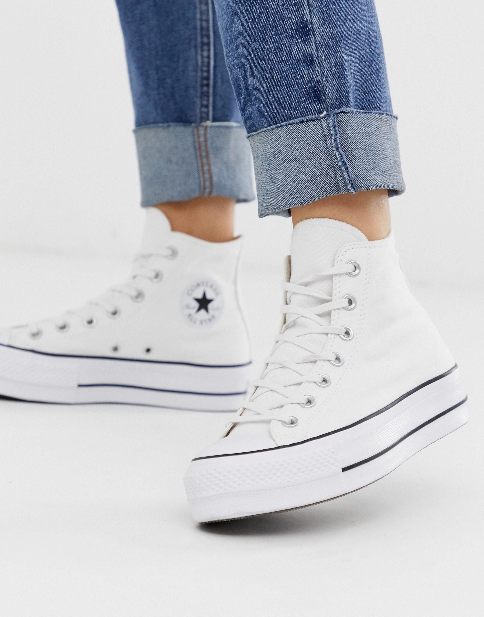 converse white platform trainers Shop Clothing & Shoes Online