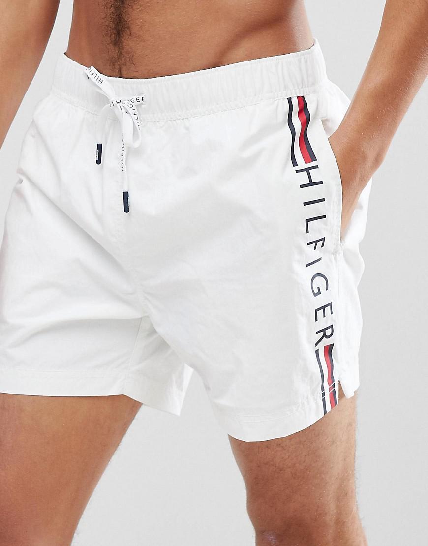 deae7063608e Tommy Hilfiger Short Drawstring Side Stripe Logo Swim Shorts In ...