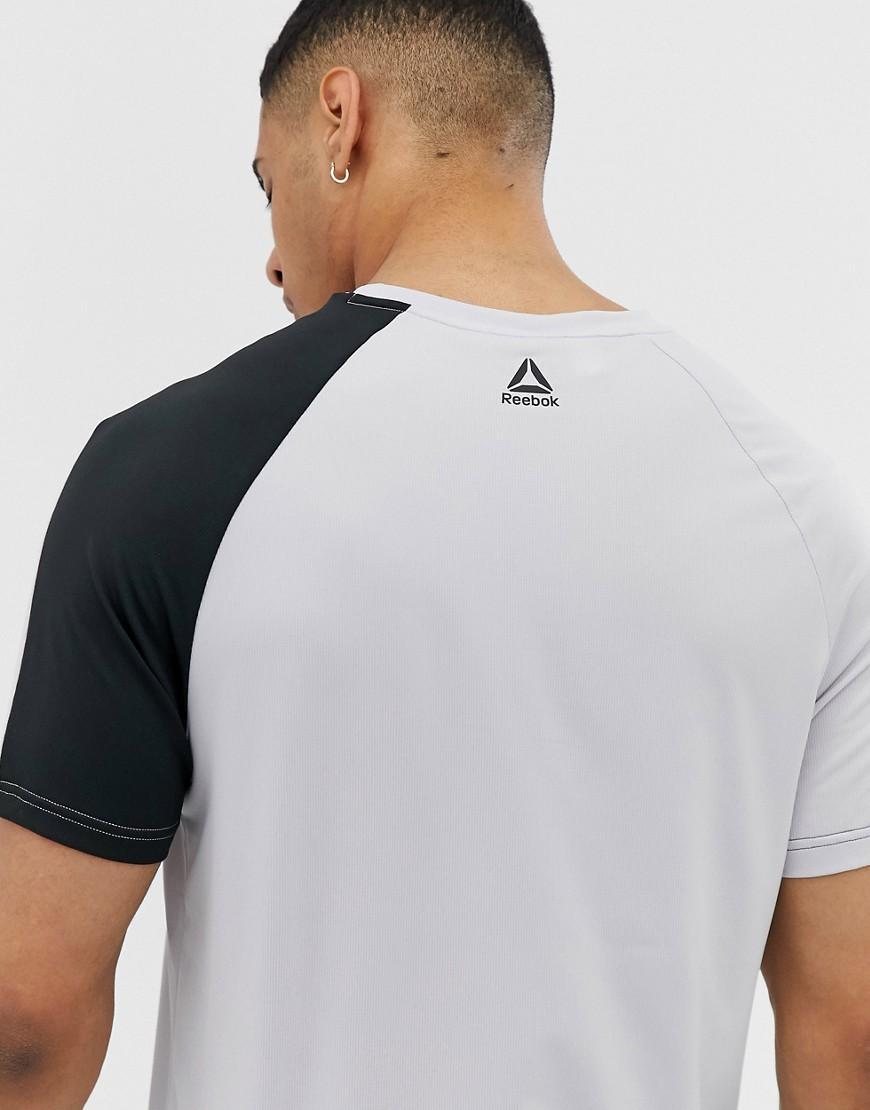 Reebok Synthetisch One Series - T-shirt Met Kleurvlakken In Grijs in het Grijs voor heren