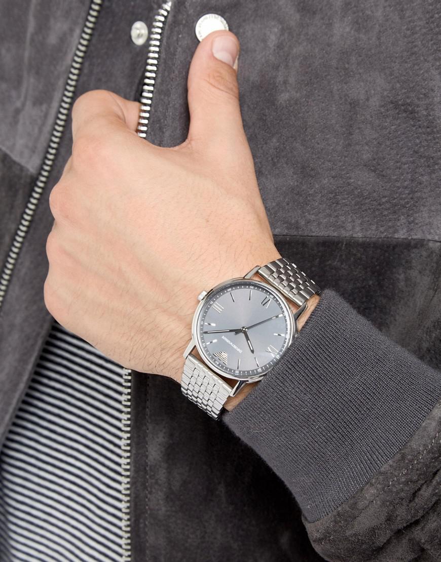 Serpiente inteligencia Nominal  Emporio Armani Ar11068 Bracelet Watch In Silver in Metallic for Men - Lyst