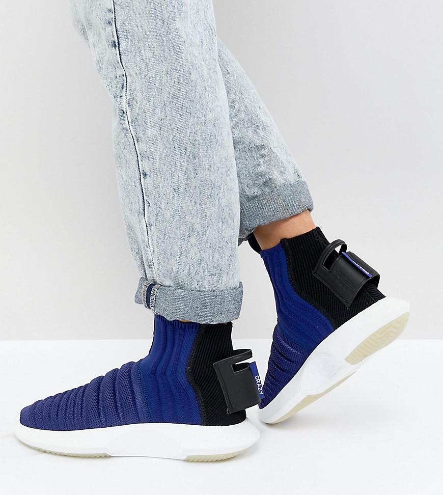 Women's Black Crazy 1 Adv Sock Primeknit Sneakers In Blue