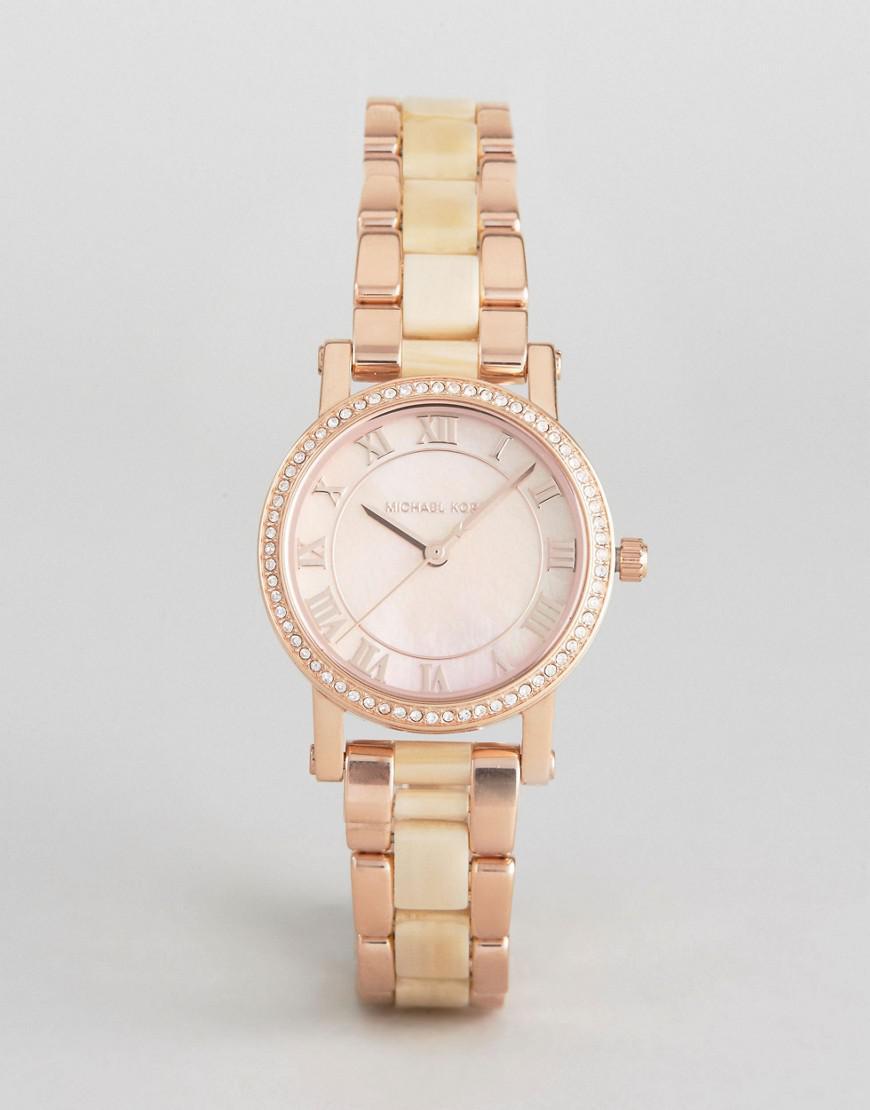 90eea7f1b406 Michael Kors Rose Gold Petite Norie Watch in Metallic for Men - Lyst