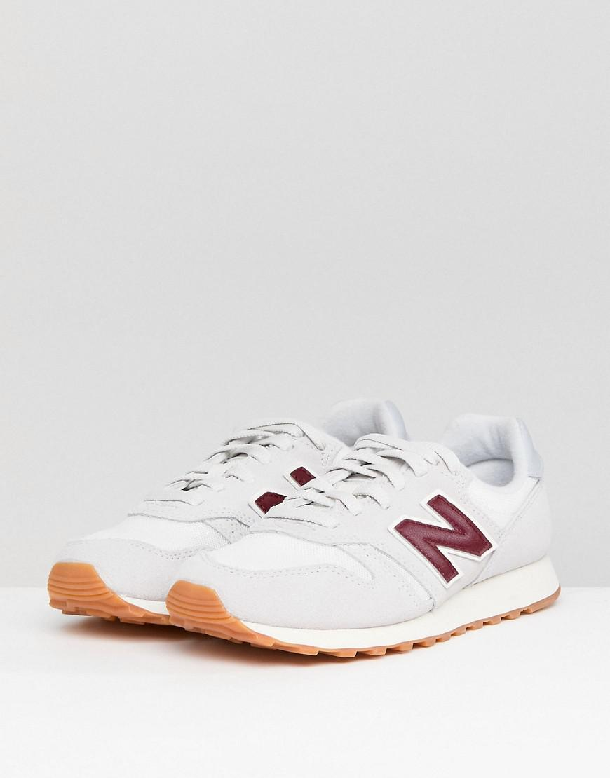 free delivery harmonious colors really comfortable 373 Suede Trainers In Off White And Burgundy