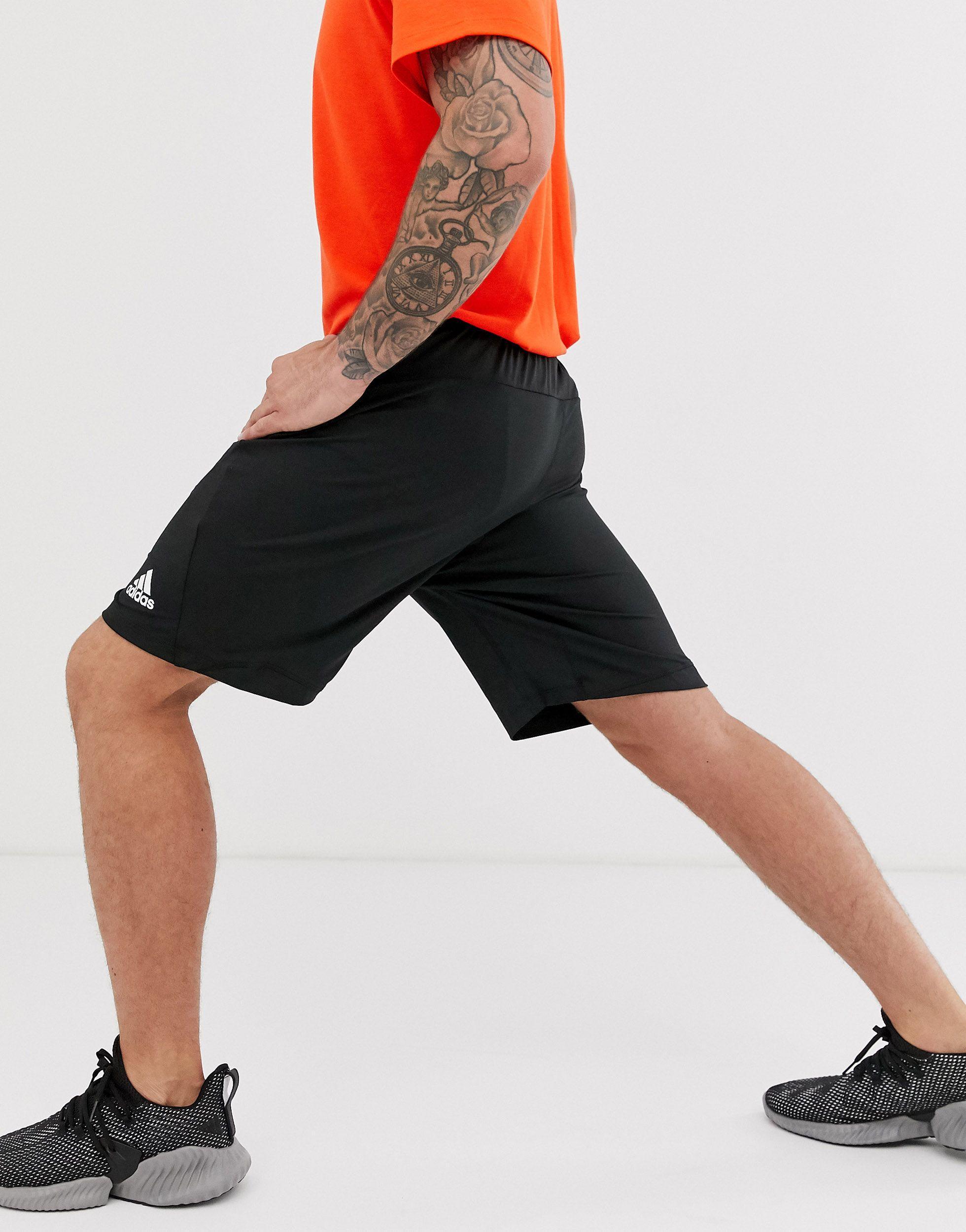 adidas Originals Synthetisch Adidas - Trainingsshort in het Zwart voor heren