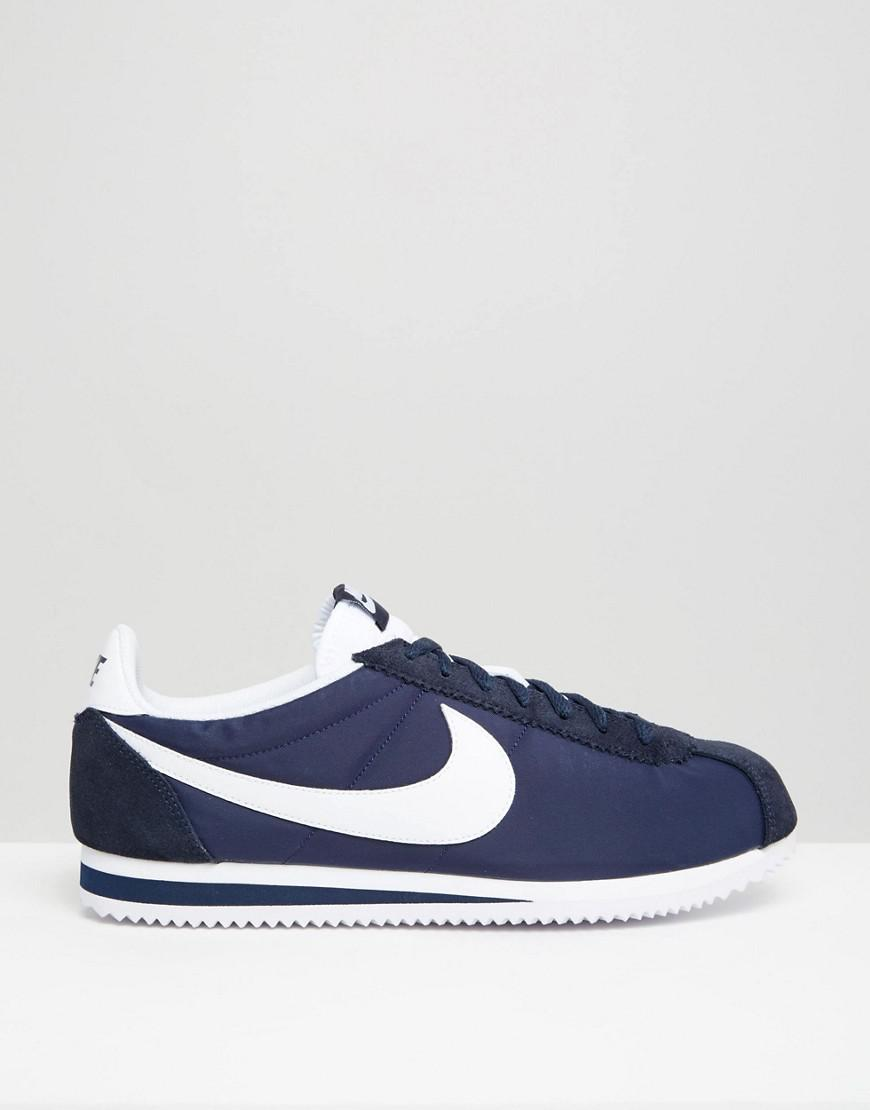 56ca22ae83f43 Nike Classic Cortez Nylon Sneakers In Navy 807472-410 in Blue for Men - Lyst