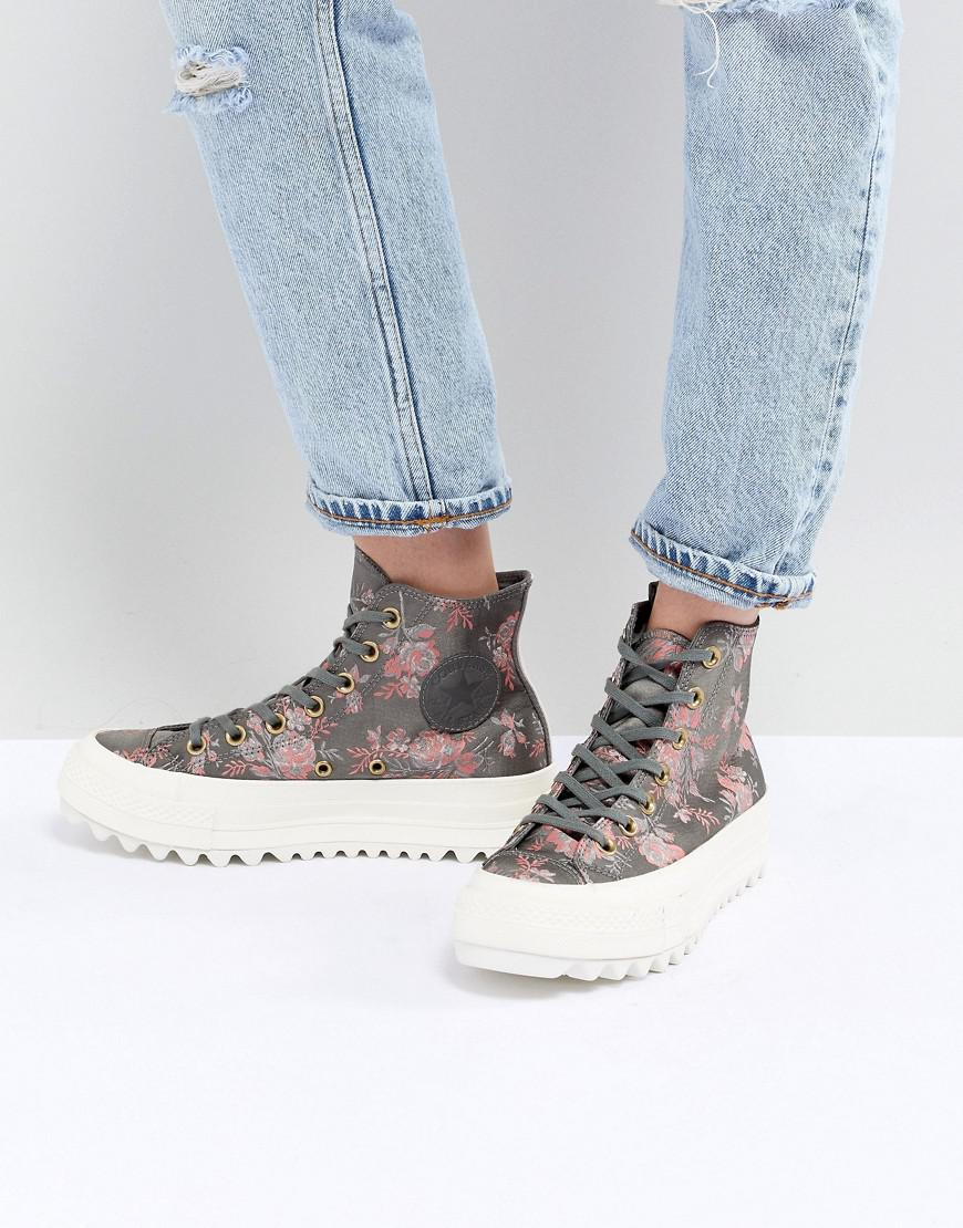 In Lyst Converse Taylor Floral Chuck Ripple Lift Hi Trainers Star All xZqCxp6P