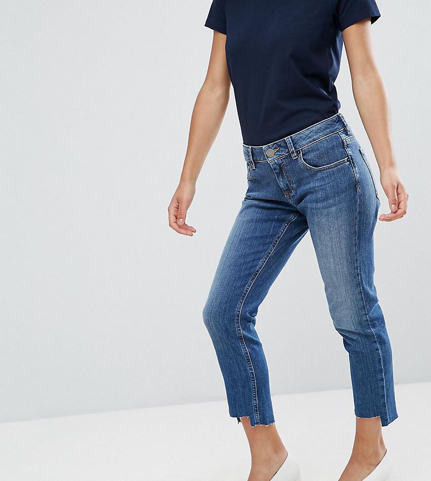 KIMMI Shrunken Boyfriend Jeans in Blake Vintage Darkwash with Stepped Hem - Vintage darkwash Asos Tall 2018 Unisex Cheap Price 9Fo2QQM