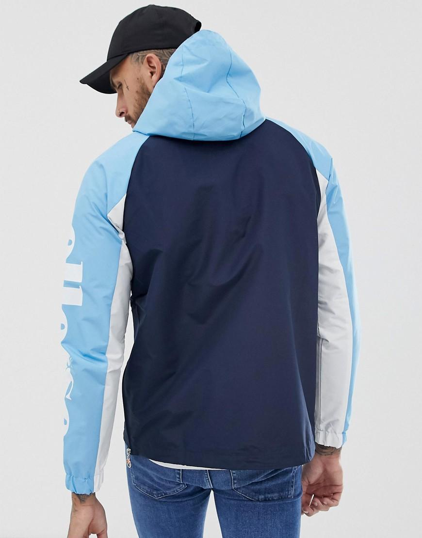 0155c5c7a Ellesse Mercuro Overhead Windbreaker With Sleeve Print In Blue for men
