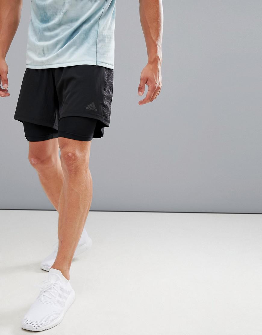 adidas 2 in 1 shorts mens