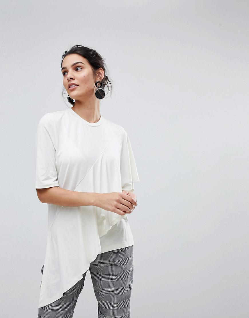 cc5c65aa369a6c Lyst - Y.A.S Frill Top in White