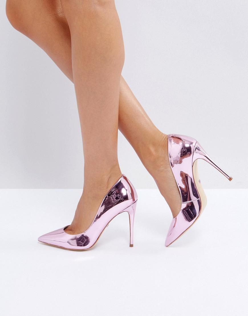 ALDO Stessy Rose Gold Point Pumps in
