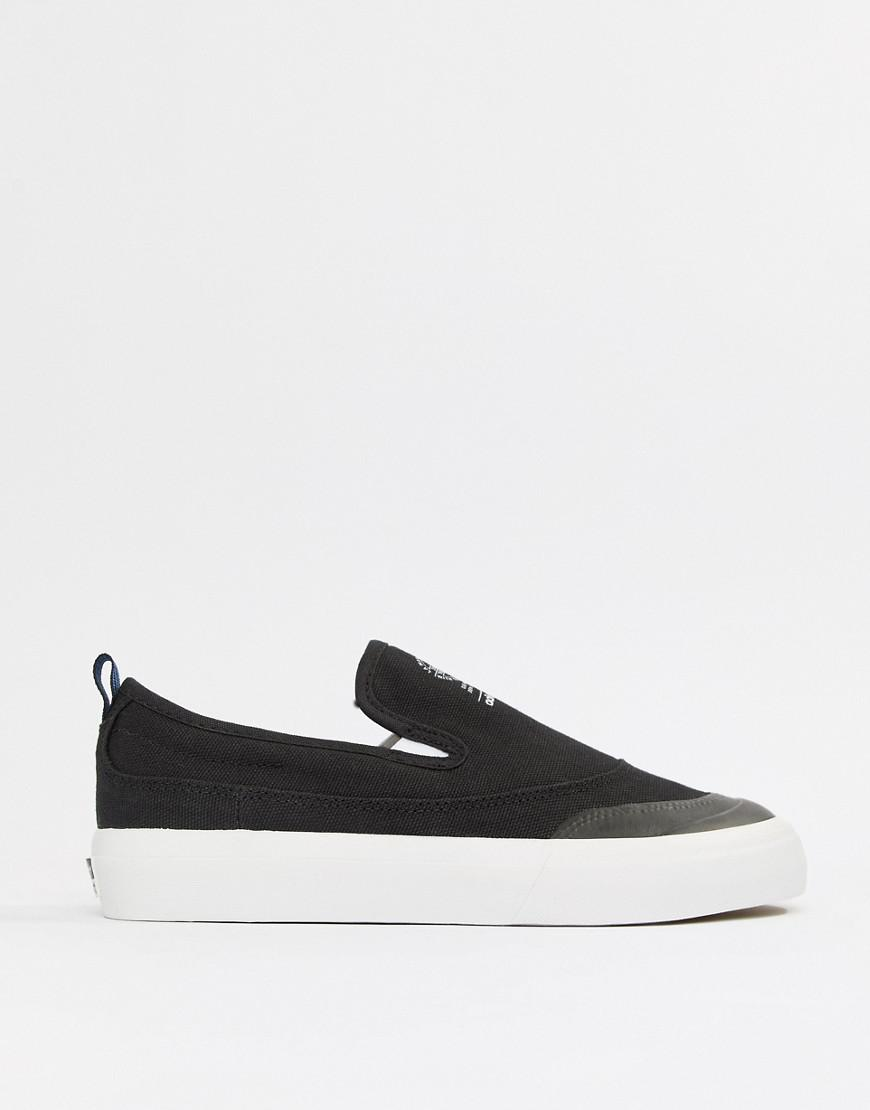 1a4232a9532 Lyst - adidas Originals Adidas Skate Boarding Matchcourt Slip On Sneakers  in Black