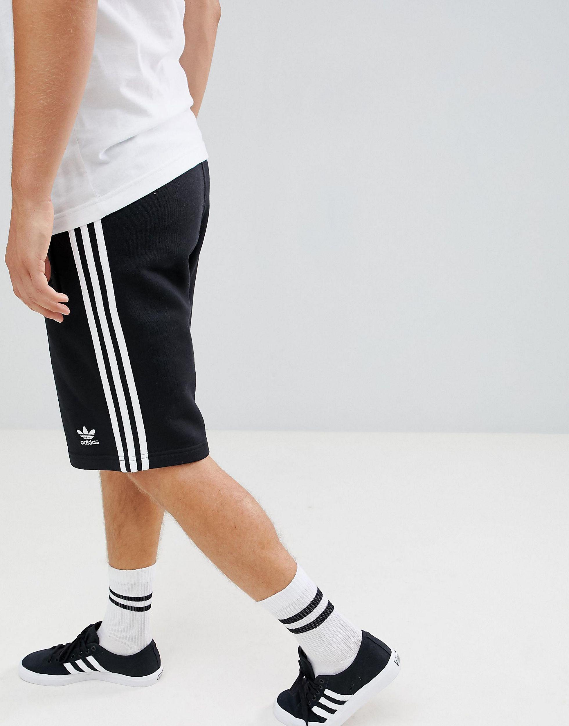 adidas Originals Adicolor Three Stripe Shorts in Black for Men - Lyst