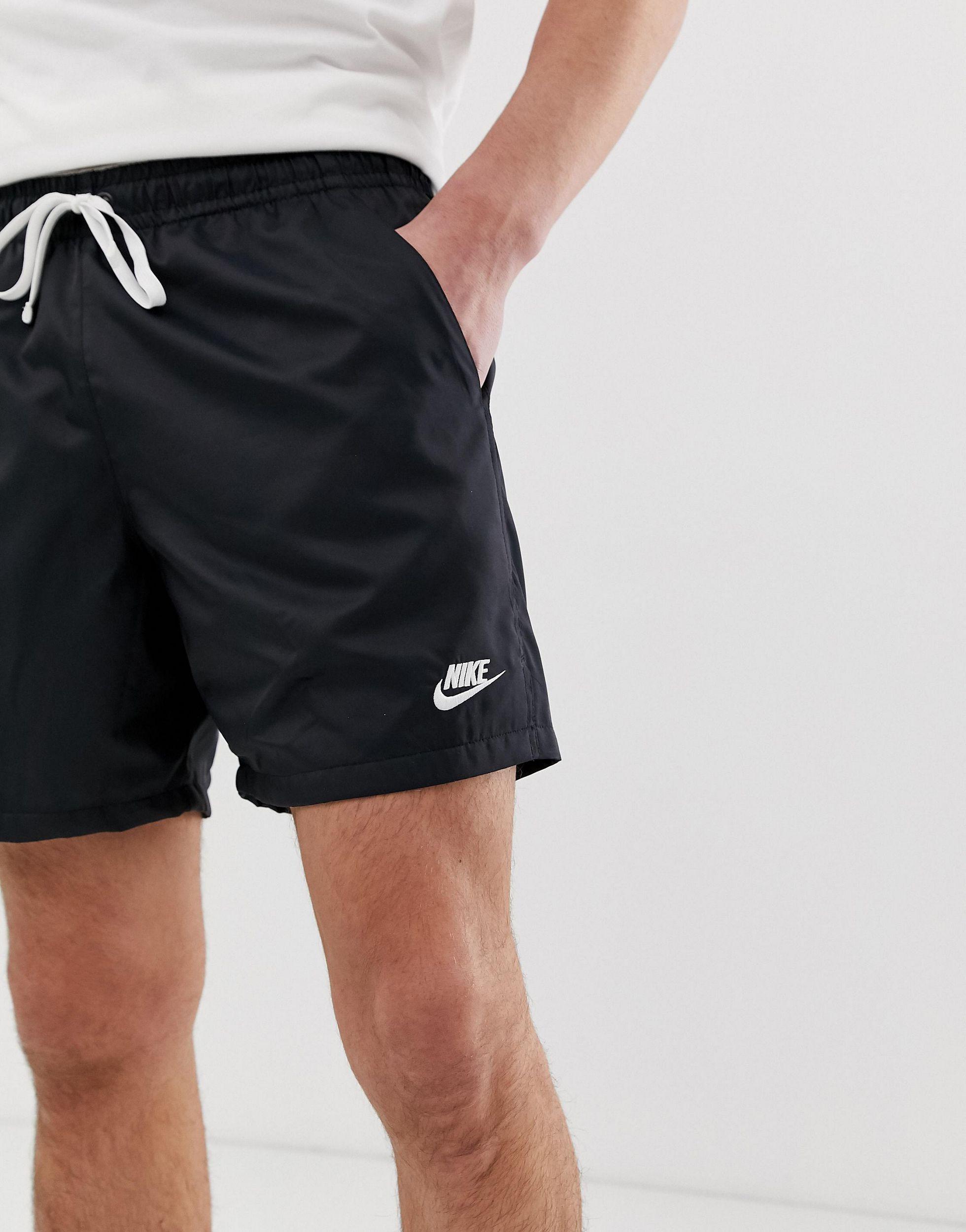 Nike Katoen Geweven Short Met Logo in het Zwart voor heren