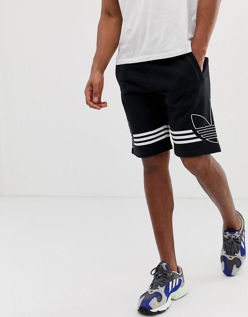 adidas Originals Cotton Jersey Shorts Trefoil Logo Du8135 in Black ...