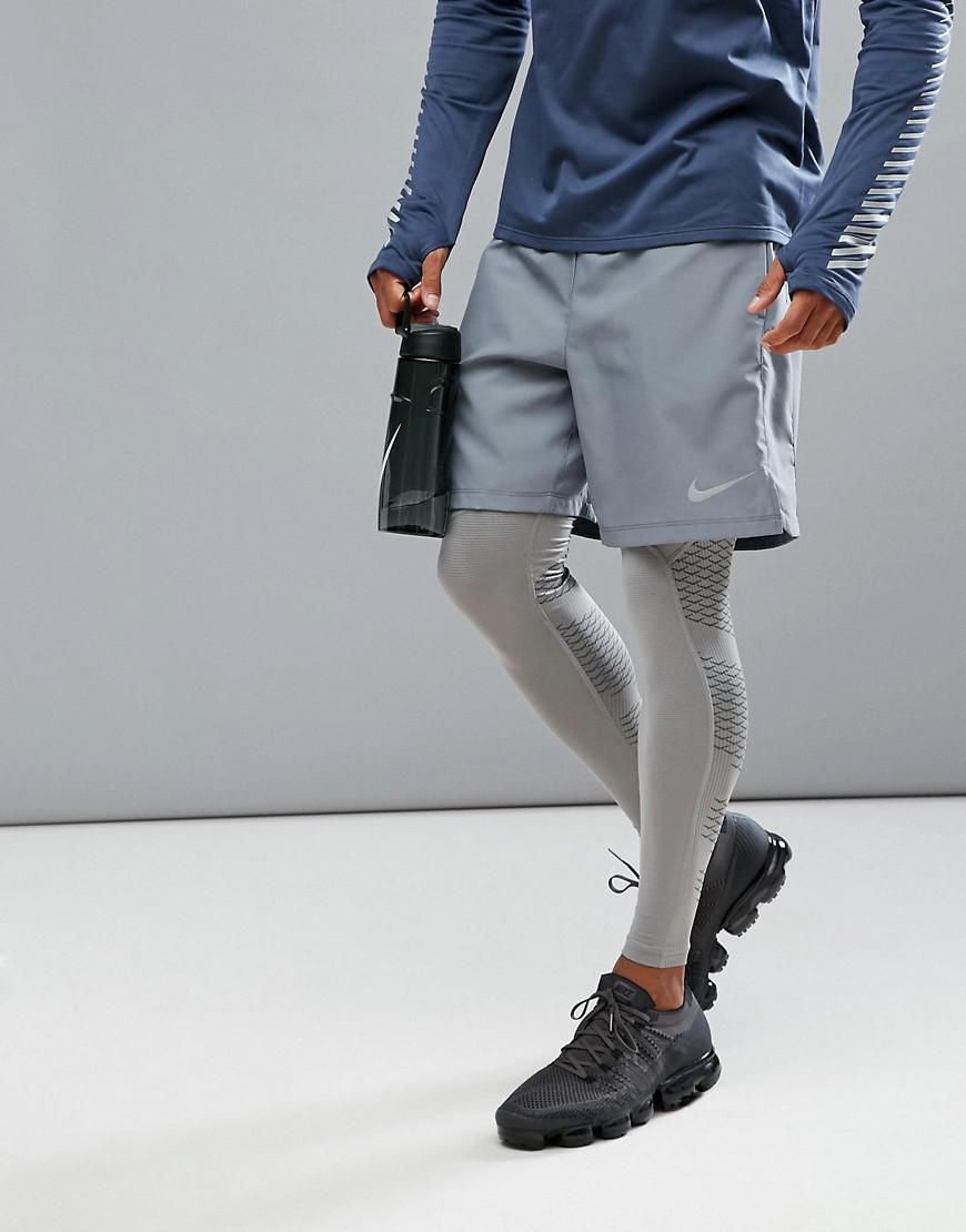 0e1e98d1b046b6 Nike Flex Challenger 7 Inch 2-in-1 Shorts In Grey 856832-065 in Gray ...