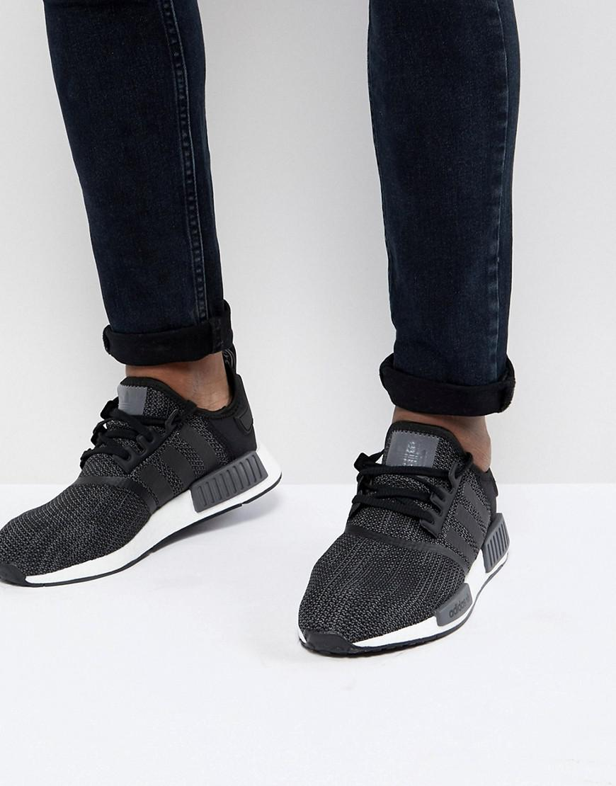 the best attitude d296a 2107c adidas Originals Nmd R1 Trainers In Black B79758 for Men - Lyst