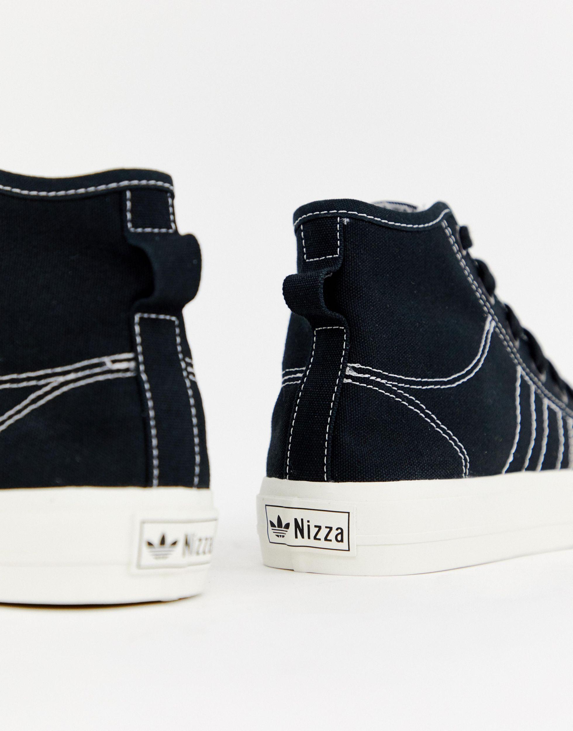 Black High Top Nizza Sneakers - Lyst