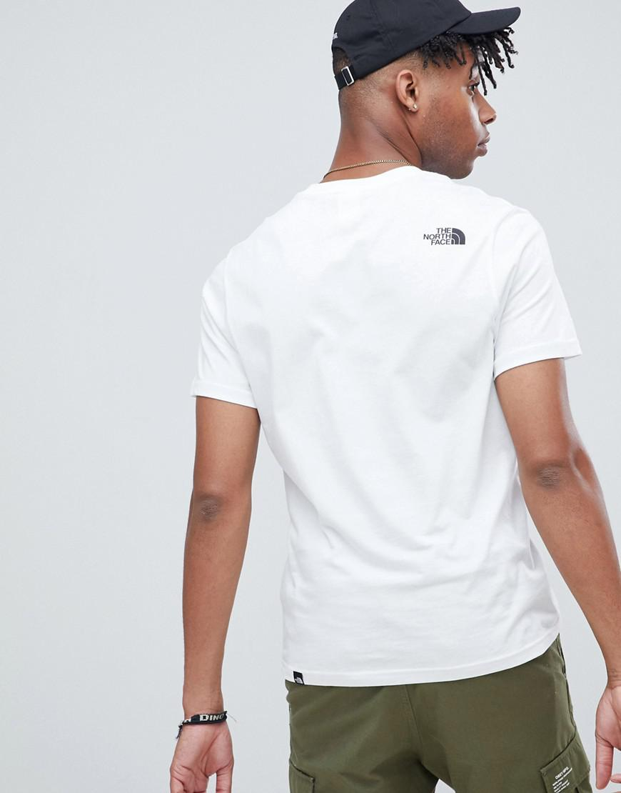 5a50c475 The North Face Fine T-shirt In White in White for Men - Lyst