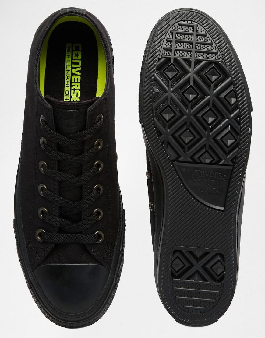 official supplier attractivedesigns high quality materials Chuck Taylor All Star Ii Plimsolls In Black 151223c