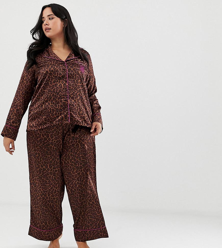 buy popular c4044 de924 Savage x Fenty Curvy Animal Print Satin Pyjama Bottoms In ...