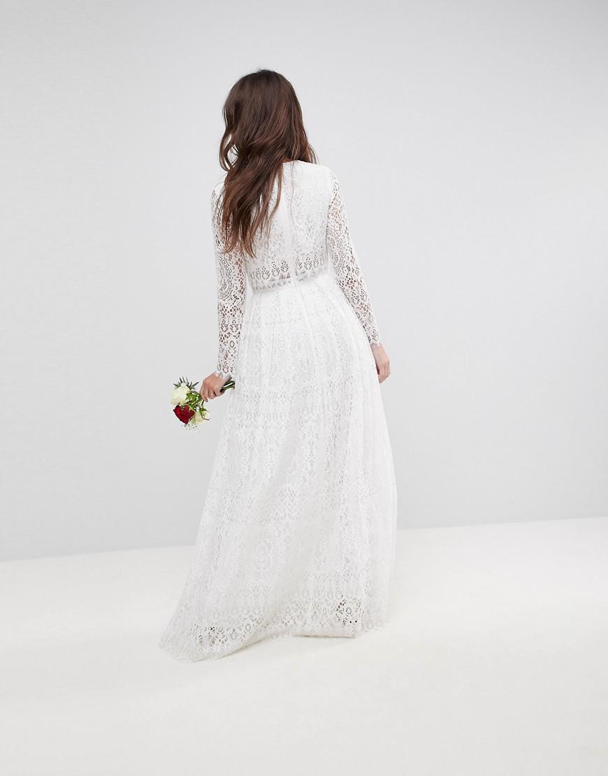 6c61a26ecab Lace Top Maxi Bridesmaid Dress