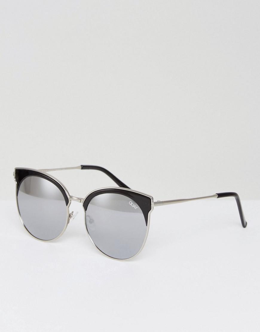 b440f77be4 Quay Mia Bella Retro Sunglasses In Black in Black for Men - Lyst