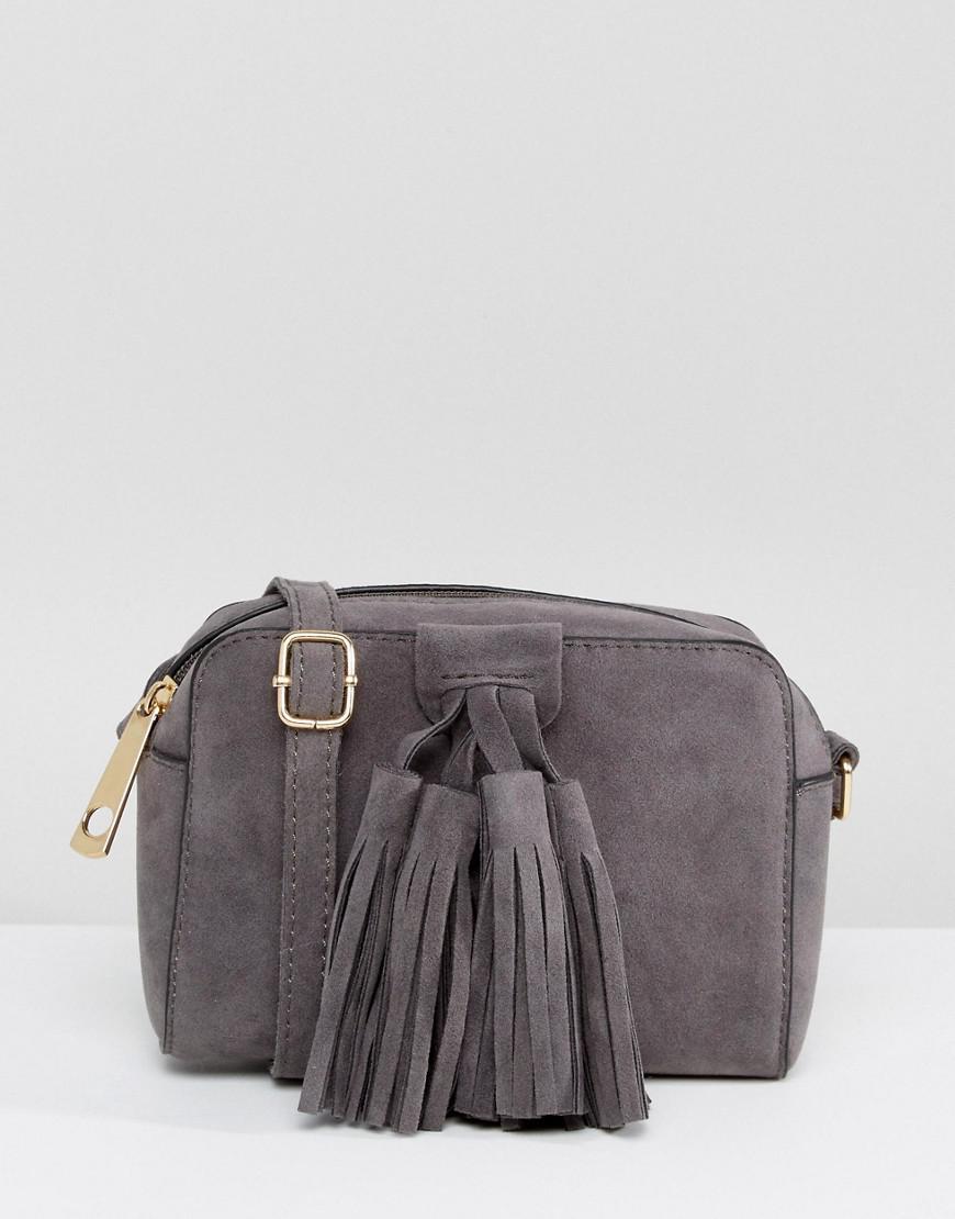 a43450026 Lyst - Yoki Fashion Yoki Tassel Detail Crossbody Bag in Gray
