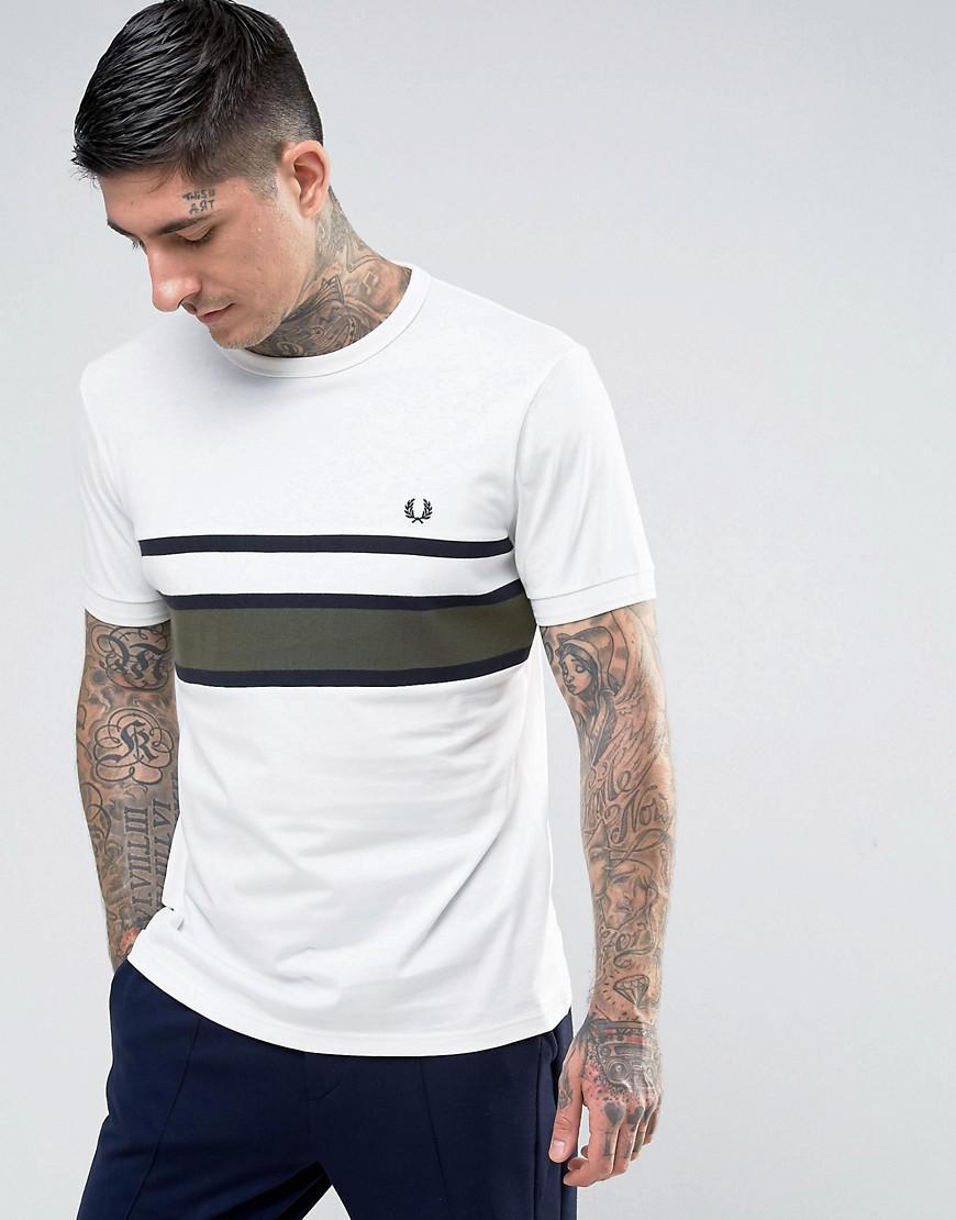 Slim Chest Stripe T-shirt In White