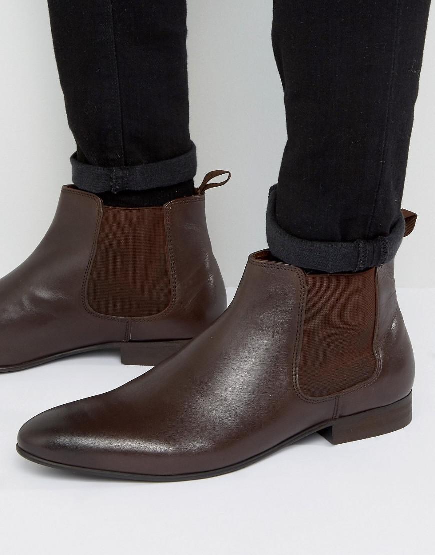 Dune Brown suede desert boots 56308000043577