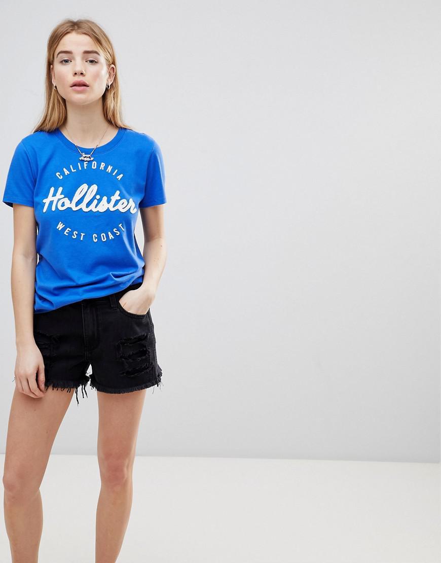 Hollister. Short en jean girlfriend taille haute ourlet brut et ... 7d4d96924d8b