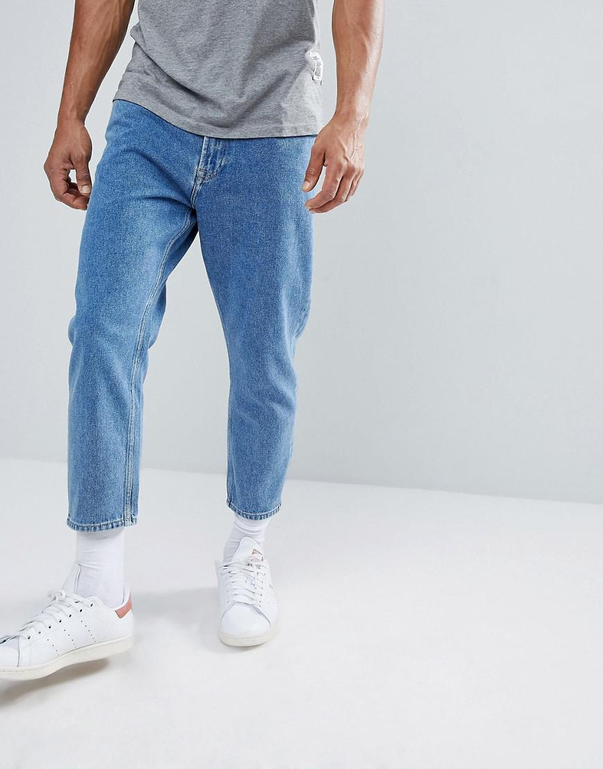 1be1d7237a5 Lyst - Only   Sons Cropped Balloon Fit Jeans in Blue for Men