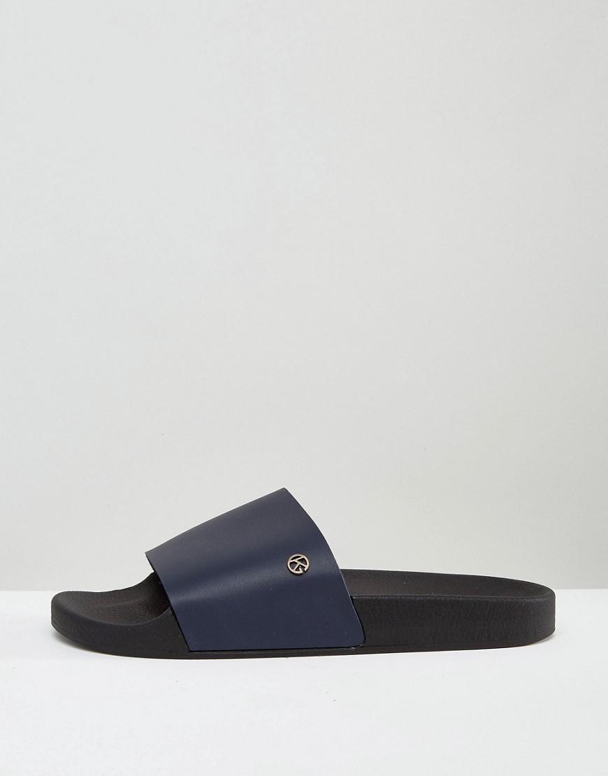 203bcd68872 Lyst - KG by Kurt Geiger Kg By Kurt Geiger Slider Sandals in Blue for Men