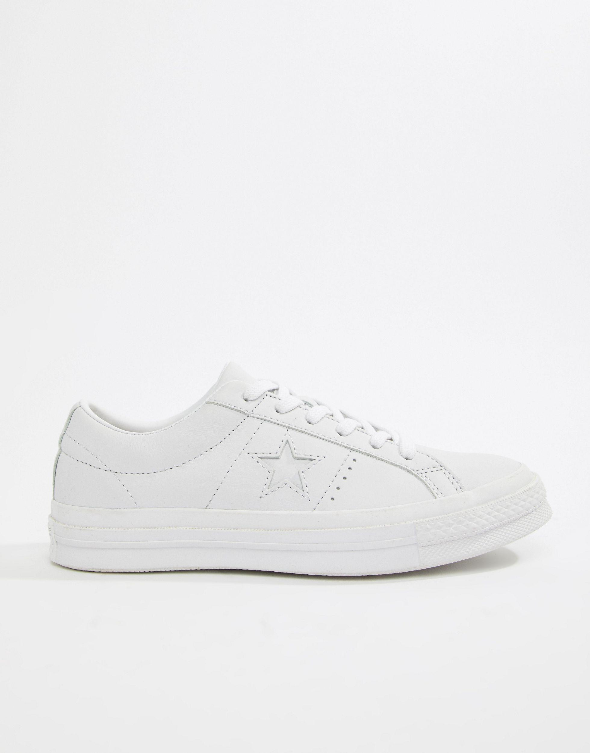 Converse One Star Triple Leather White