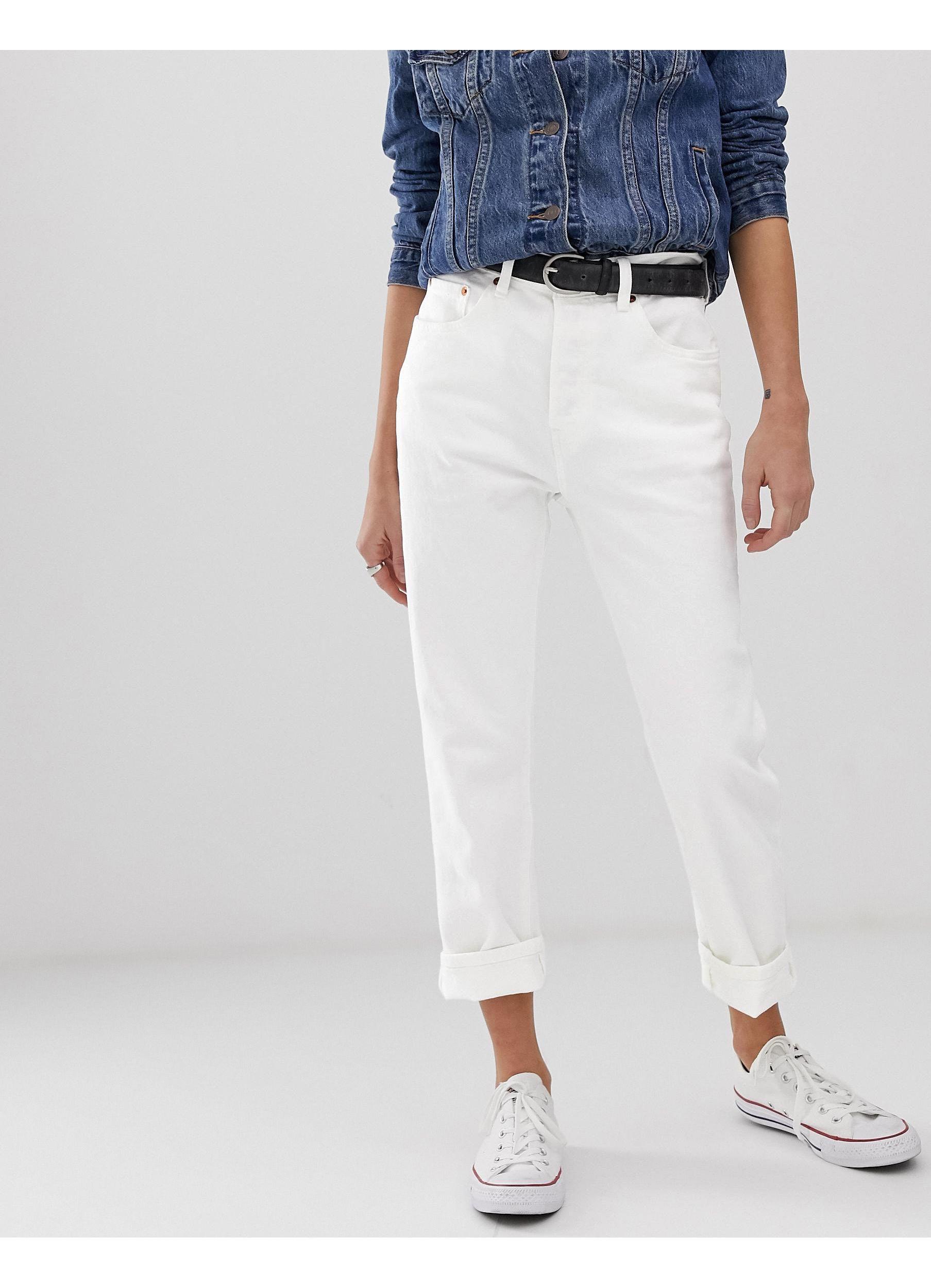501 - Jean court Jean Levi's en coloris Blanc