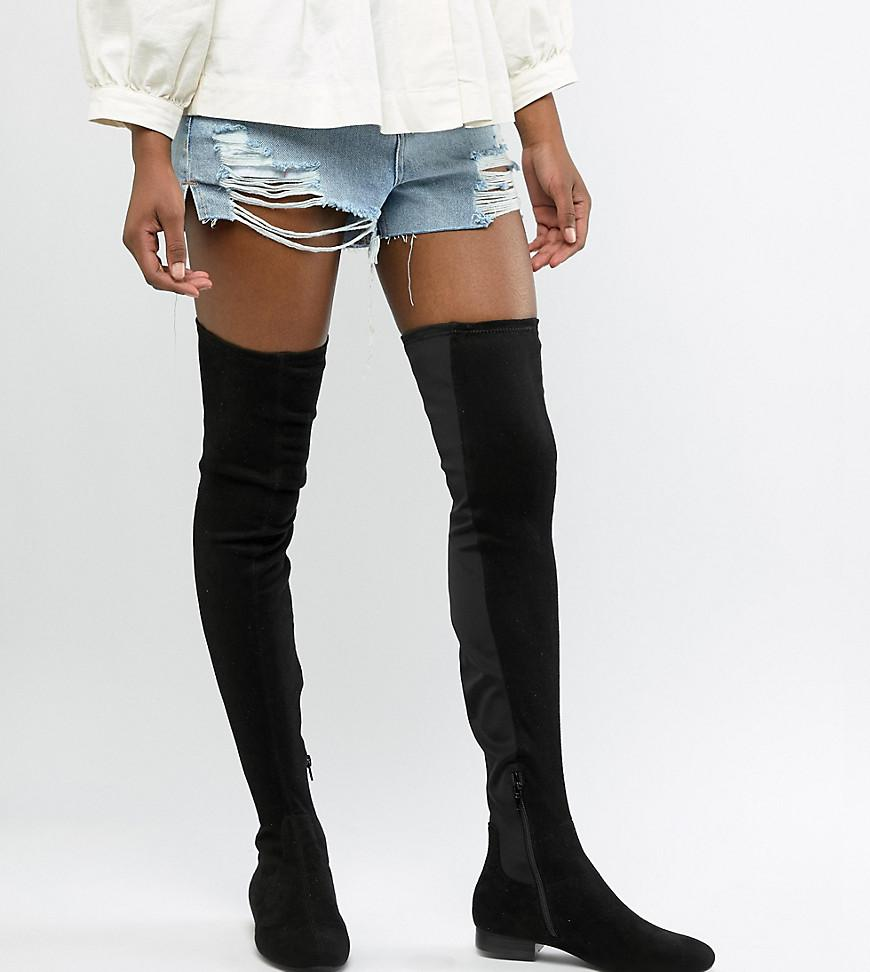 50% off wholesale newest collection Asos Design Tall Kelby Flat Elastic Thigh High Boots