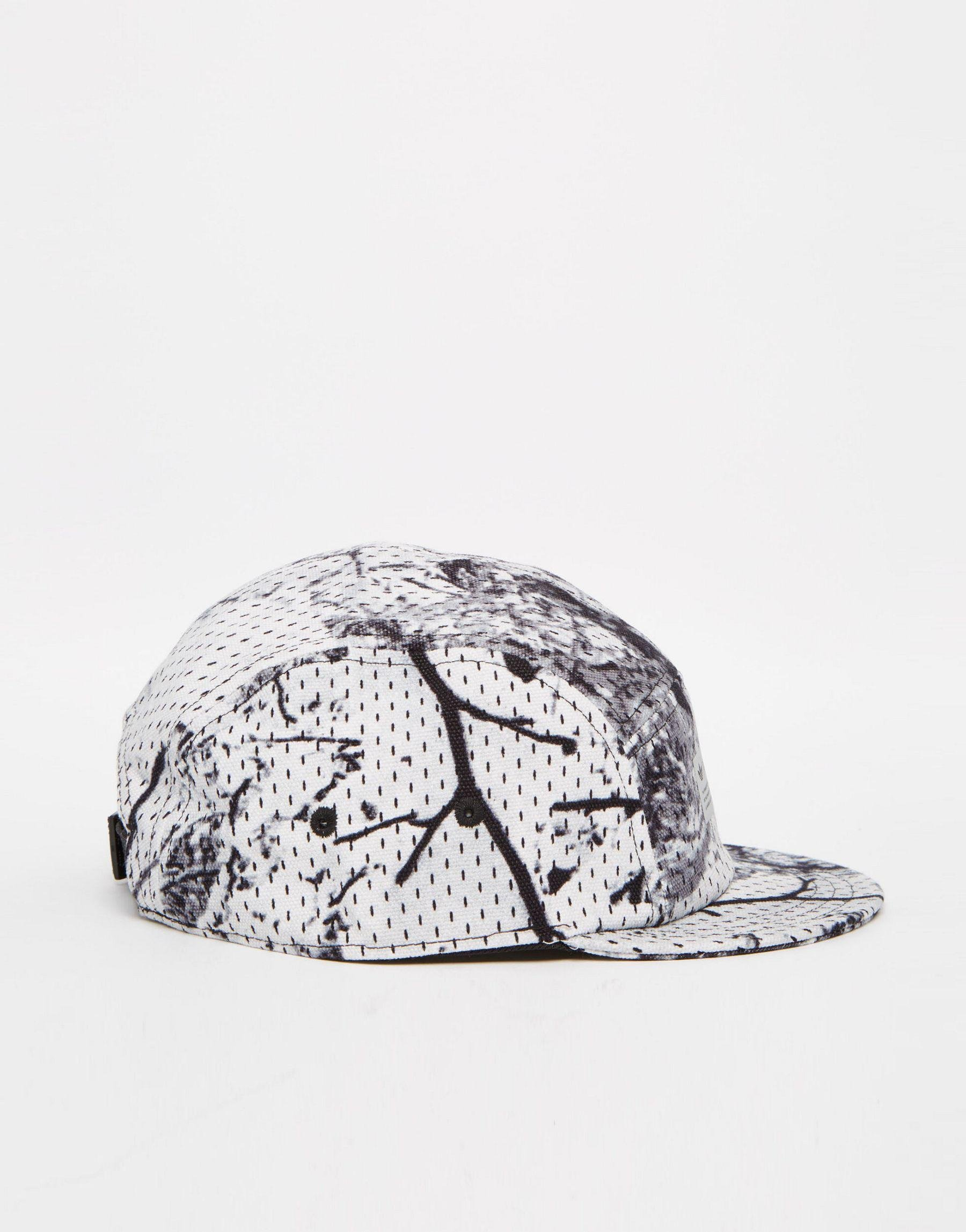 Lyst - adidas Originals Didas Snow Camo Cyclori Cap in Black for Men eaa68cd1713e
