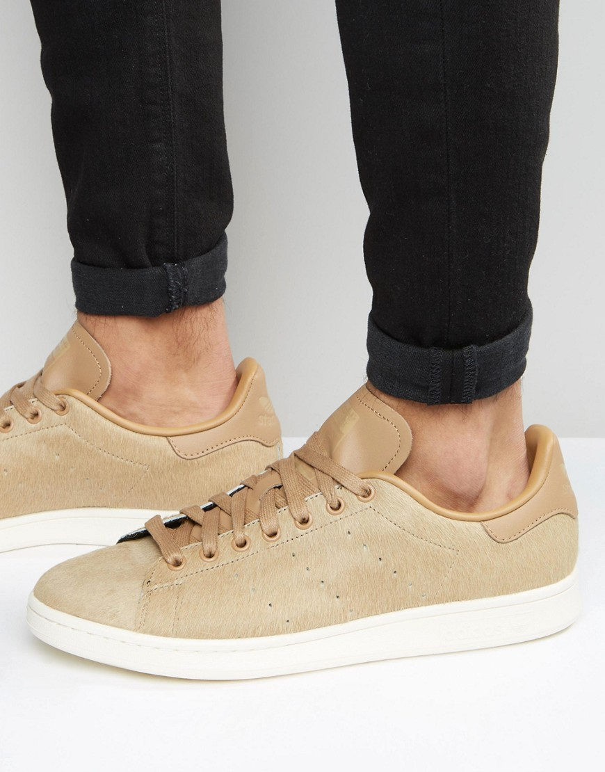 adidas Originals Leather Stan Smith Trainers - Beige in Natural ...