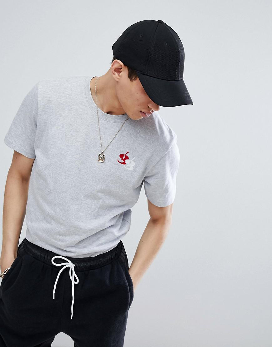 Muscle T-Shirt With Embroidery - Grey Gio-Goi Factory Sale Factory Outlet Sale Very Cheap Cheap Online Store Manchester gCiKr4f